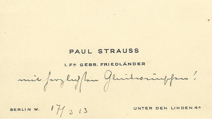 Business card Paul Strauss