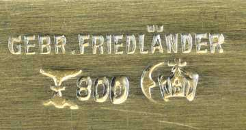 Brand_brother_Friedlaender_800_Silber_vermeil